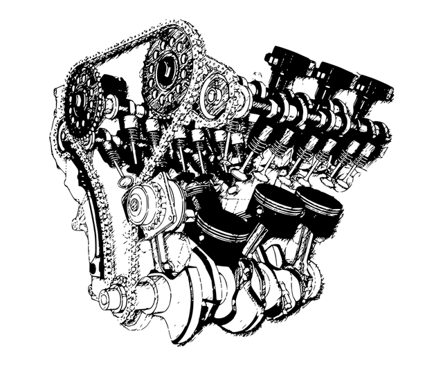 motor ilustrace
