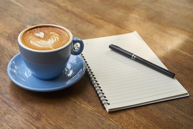 káva a zápisník